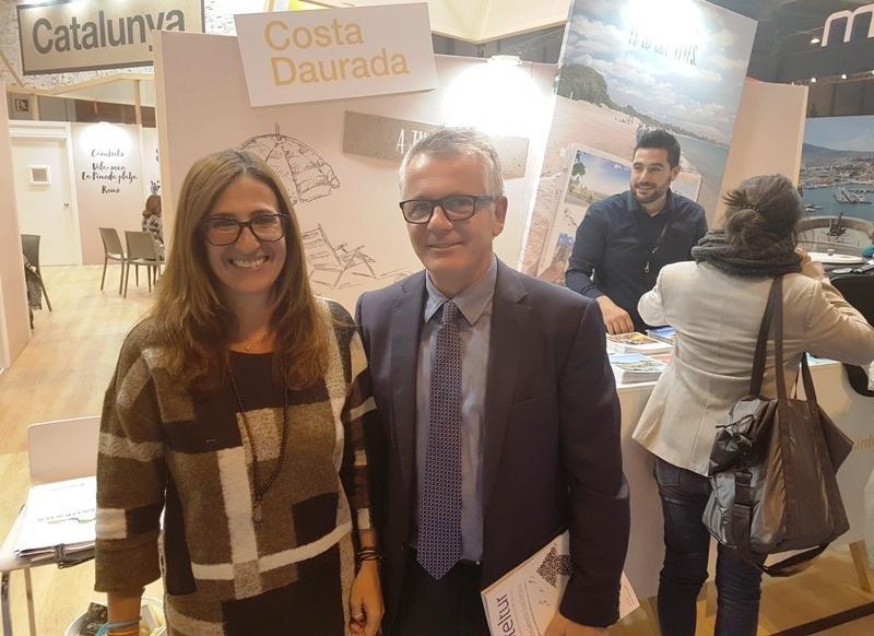 Marta Álvarez y Eduard Farriol, la semana pasada en Fitur.