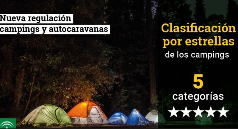 Andalucía fija una nueva clasificación por estrellas para los camping