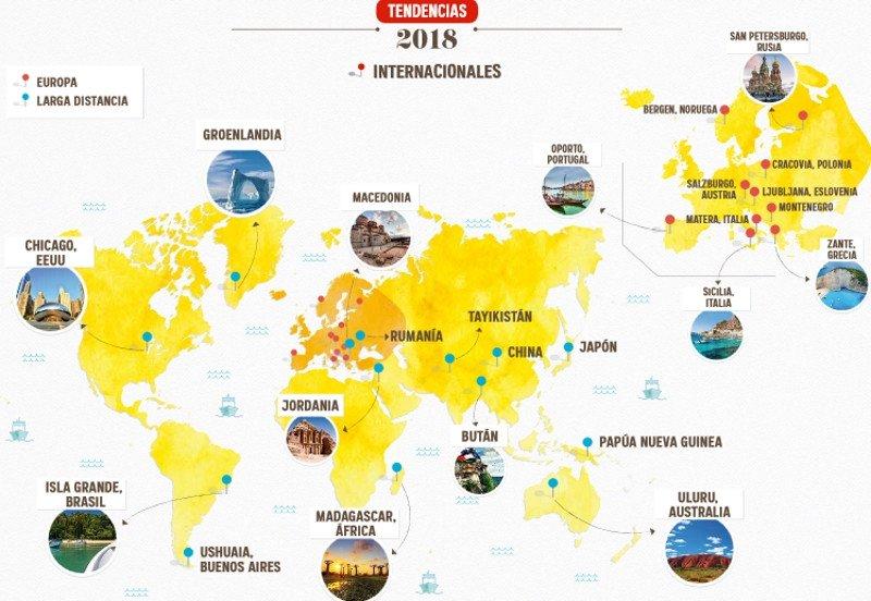 Las tendencias y destinos que marcarán los viajes de los españoles en 2018