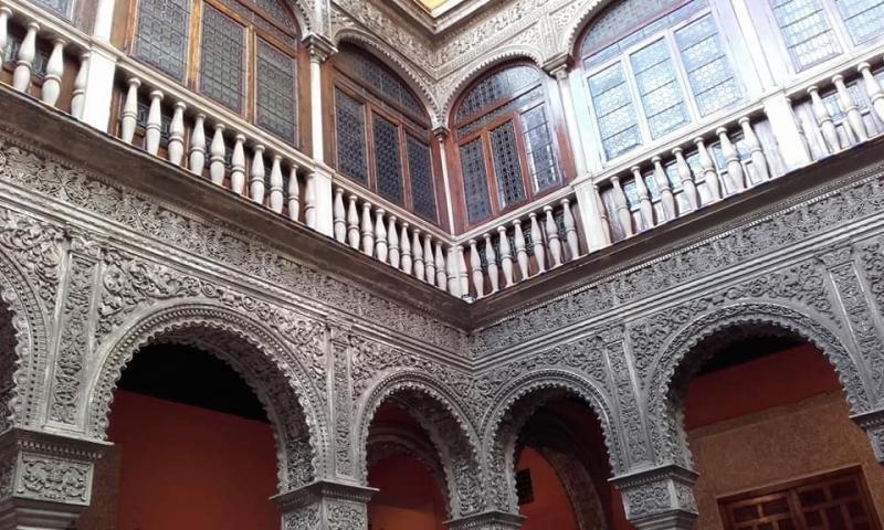 Detalle del patio interior de la Casa de Salinas.