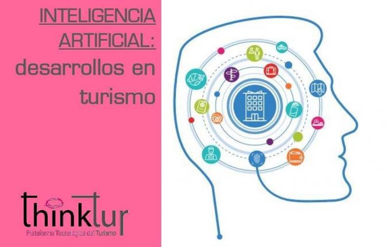 Portada del eBook de Thinktur sobre inteligencia artificial, realizado en colaboración con los Centros Tecnológicos de Turismo.