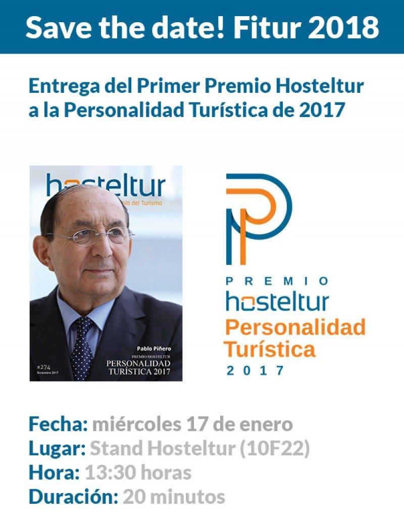 Fitur acogerá la entrega del Premio Hosteltur Personalidad Turística 2017