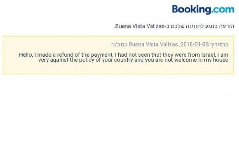 Justificación de la cancelación de la reserva en Booking.