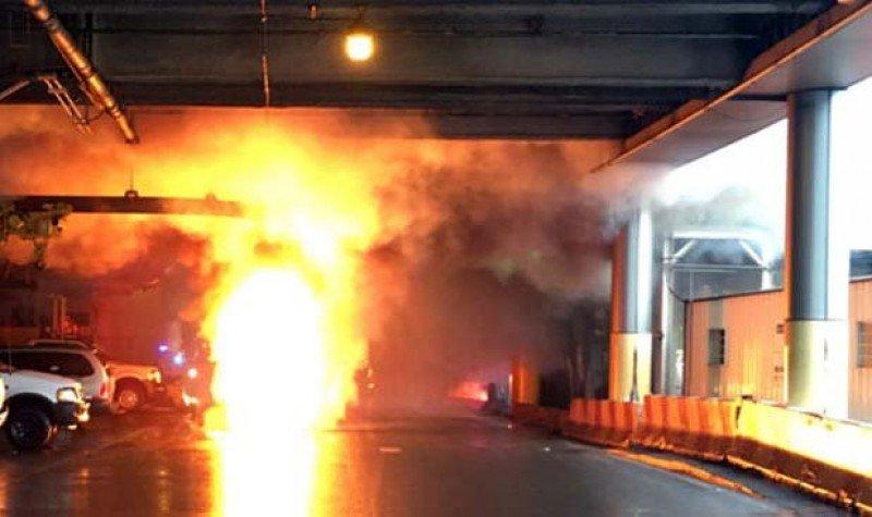 Un incendio en un transformador causó un apagón en Newark.