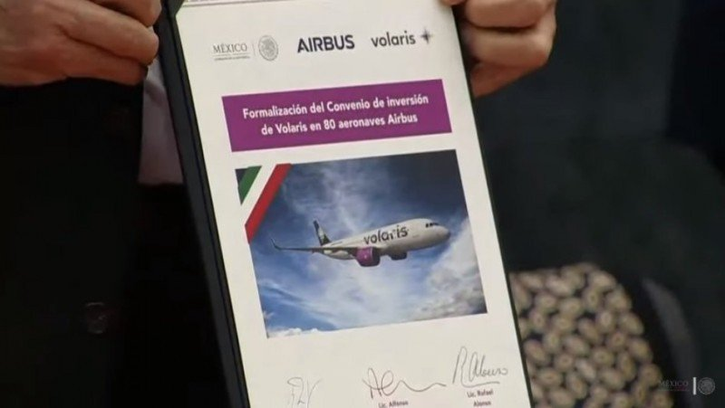 Low cost mexicana Volaris duplicará su flota con la compra de 80 Airbus