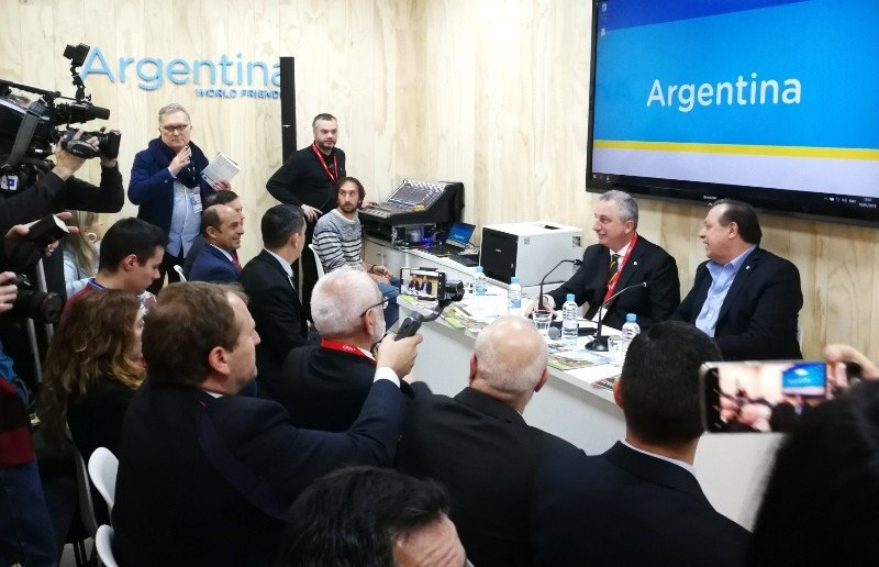 Ministro de Turismo de Argentina y gobernador de Misiones impulsan en Europa el turismo de naturaleza. Foto: T. González.