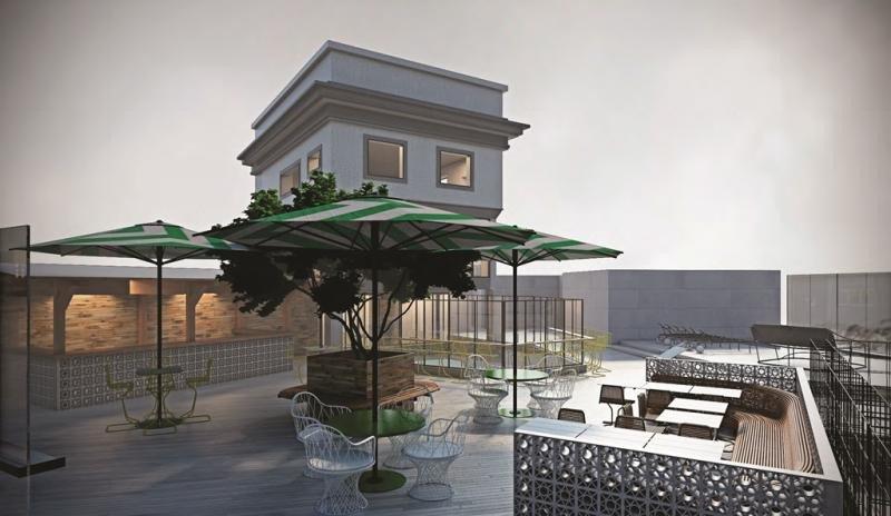 El hostel, además de salas de ocio, bar y otros espacios comunes, contará con un lounge en la azotea.