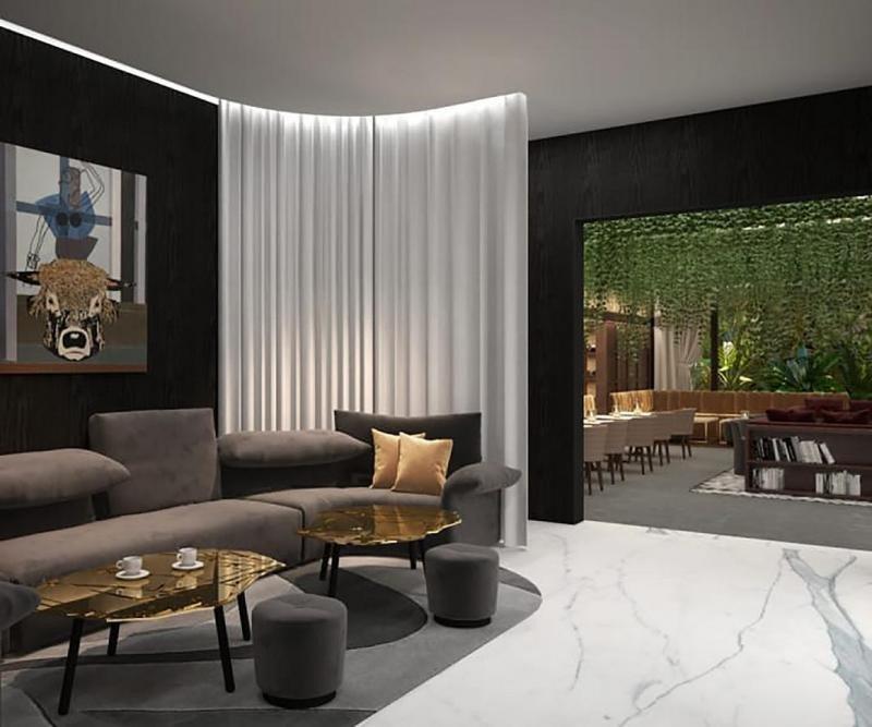 El arte es el protagonista indiscutible del nuevo hotel, tanto en sus habitaciones como en sus zonas comunes.