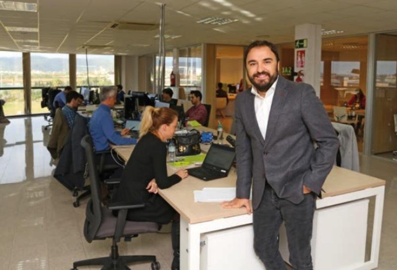 Pep Cañellas, en las oficinas centrales de World2Meet, W2M, en Palma de Mallorca.