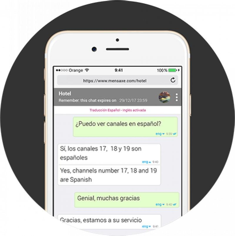 Mensaxe es la herramienta que permite a los profesionales del sector hablar con sus clientes en 90 idiomas abriendo un chat desde cualquier móvil, ordenador o tableta.