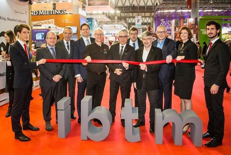 Imagen de archivo de la inauguración de la feria IBTM en Barcelona.