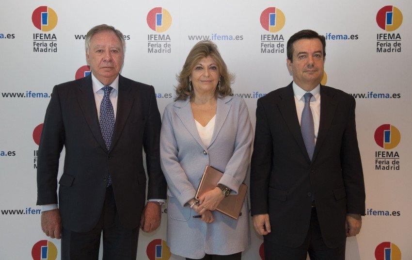 En la presentación de los resultdos han participado el presidente del Comité Ejecutivo, Clemente González Soler; la presidenta de la Junta Rectora de Ifema, Engracia Hidalgo, y su director general, Eduardo López-Puertas.