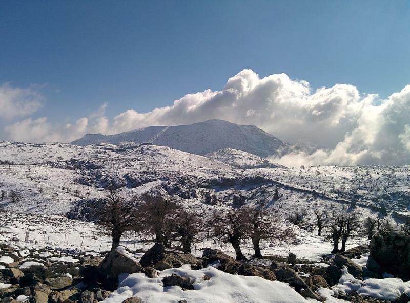 La Sierra de las Nieves, en una imagen captada en enero de 2016. Fotografía: Arturo Borrero González / Wikimedia Commons