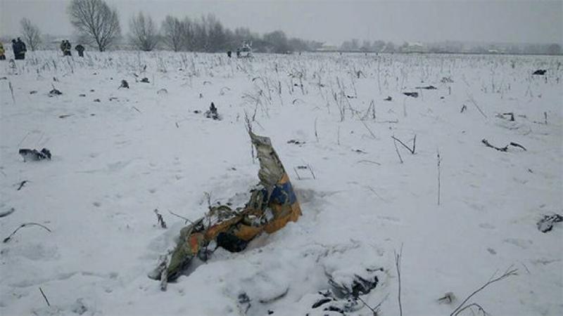 El aparato se ha estrellado esta mañana cerca de Moscú. Foto: Reuters.