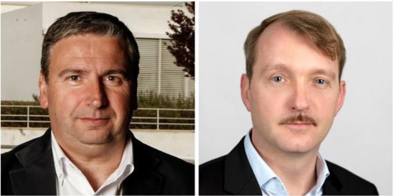 Toni Frau, director general de Traveltool e-services, y Stephan Ebert, director ejecutivo de Aerticket España,