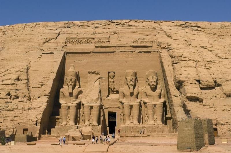 Templo de Ramses II situado en Abu Simbel, Egipto.