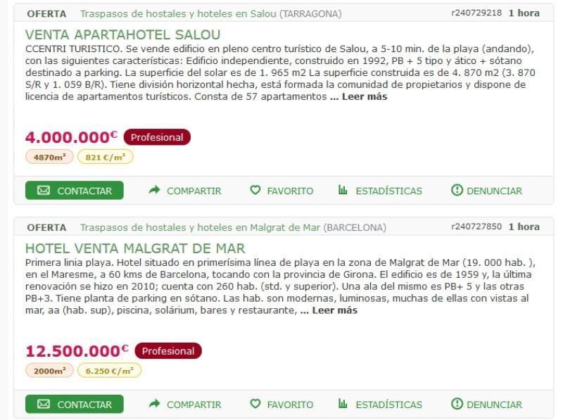 Se vende hotel… ¡en milanuncios.com!