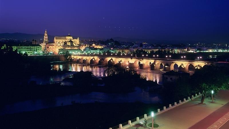Imagen de Córdoba por la noche.