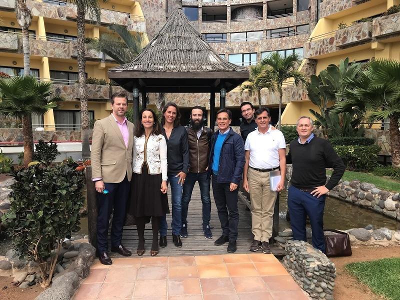 Los promotores de la Alianza para la Innovación Turística en Gran Canaria, durante su presentación.