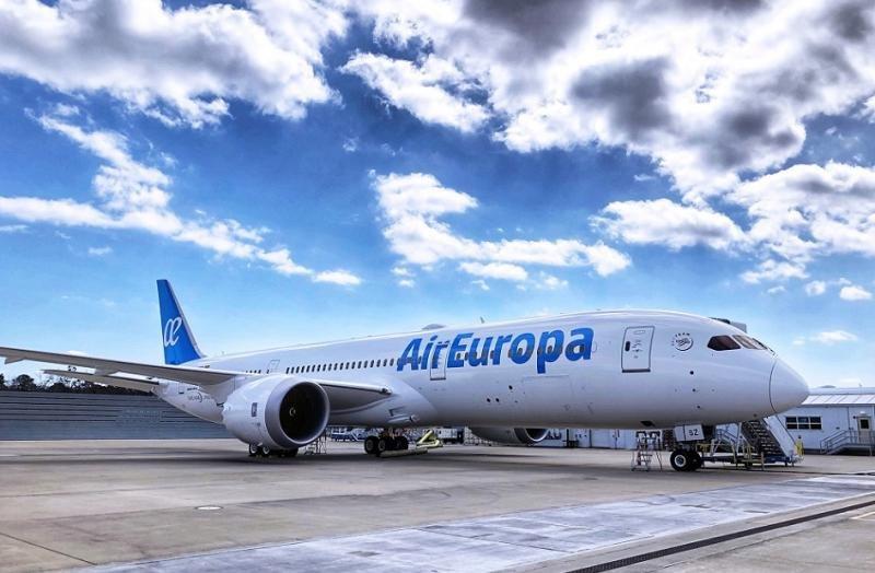 Llegó el nuevo avión de Air Europa
