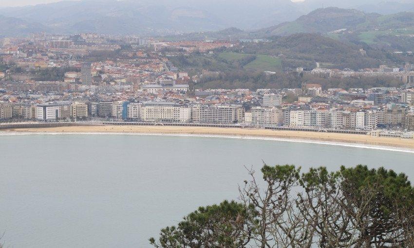 Playa de La Concha, en San Sebastián.