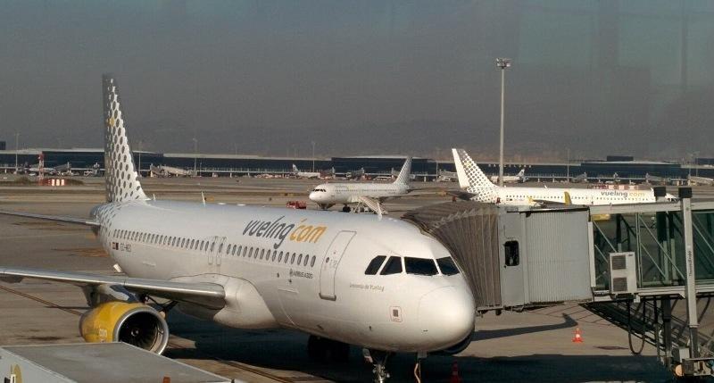 Aviones de Vueling en el aeropuerto de Barcelona.