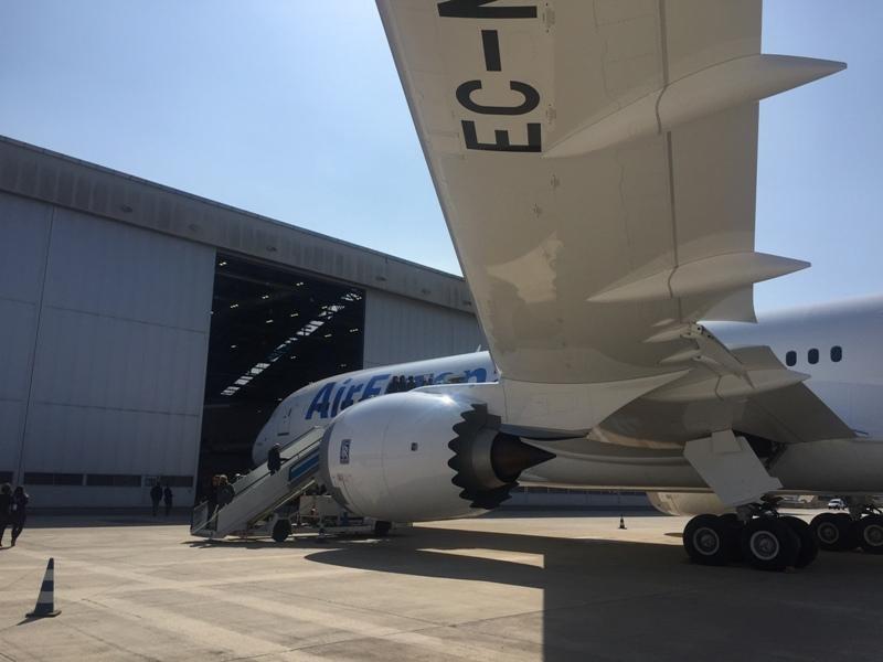 El nuevo Dreamliner es ligeramente superior al Boeing 787-8, con una longitud de 63 metros y una envergadura de 60 metros