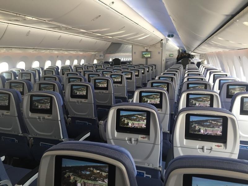 Interior del nuevo avión.