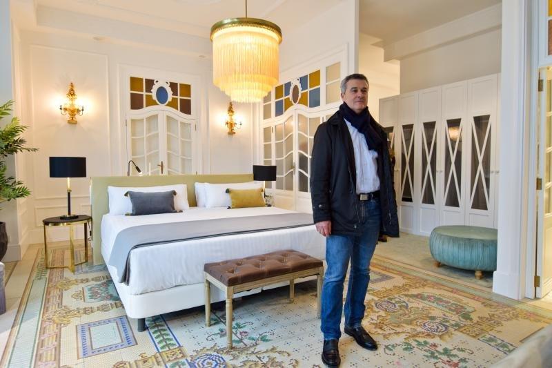 Fidel Molina, presidente grupo Comatel, en el hotel Palacio Vallier.