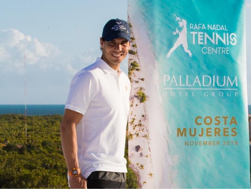 Nadal en la presentación del futuro Rafa Nadal Tennis Centre Costa Mujeres.