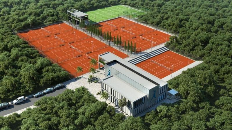 Recreación del futuro Rafa Nadal Tennis Centre Costa Mujeres.