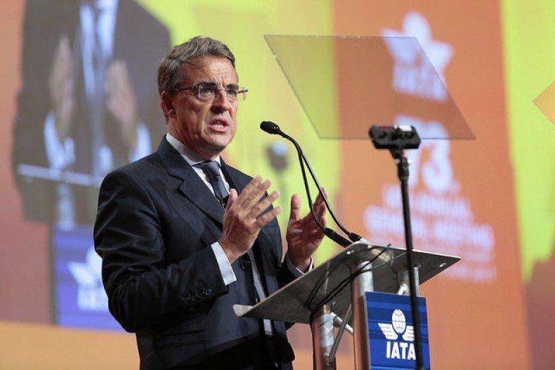 Alexandre de Juniac, consejero delegado de la IATA, dio a conocer el informe anual 2017 de la asociación.