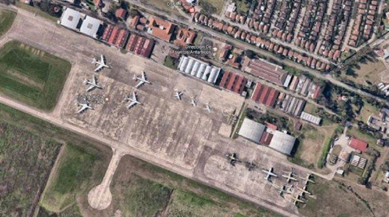 Aeropuerto El Palomar. Foto: La Nación.