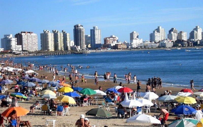 Playa Mansa de Punta del Este.