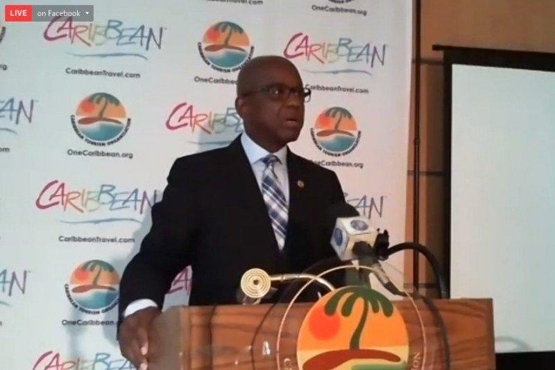 Hugh Riley, secretario general de la Organización de Turismo del Caribe ,dio a conocer el balance 2017.  Foto: CTO