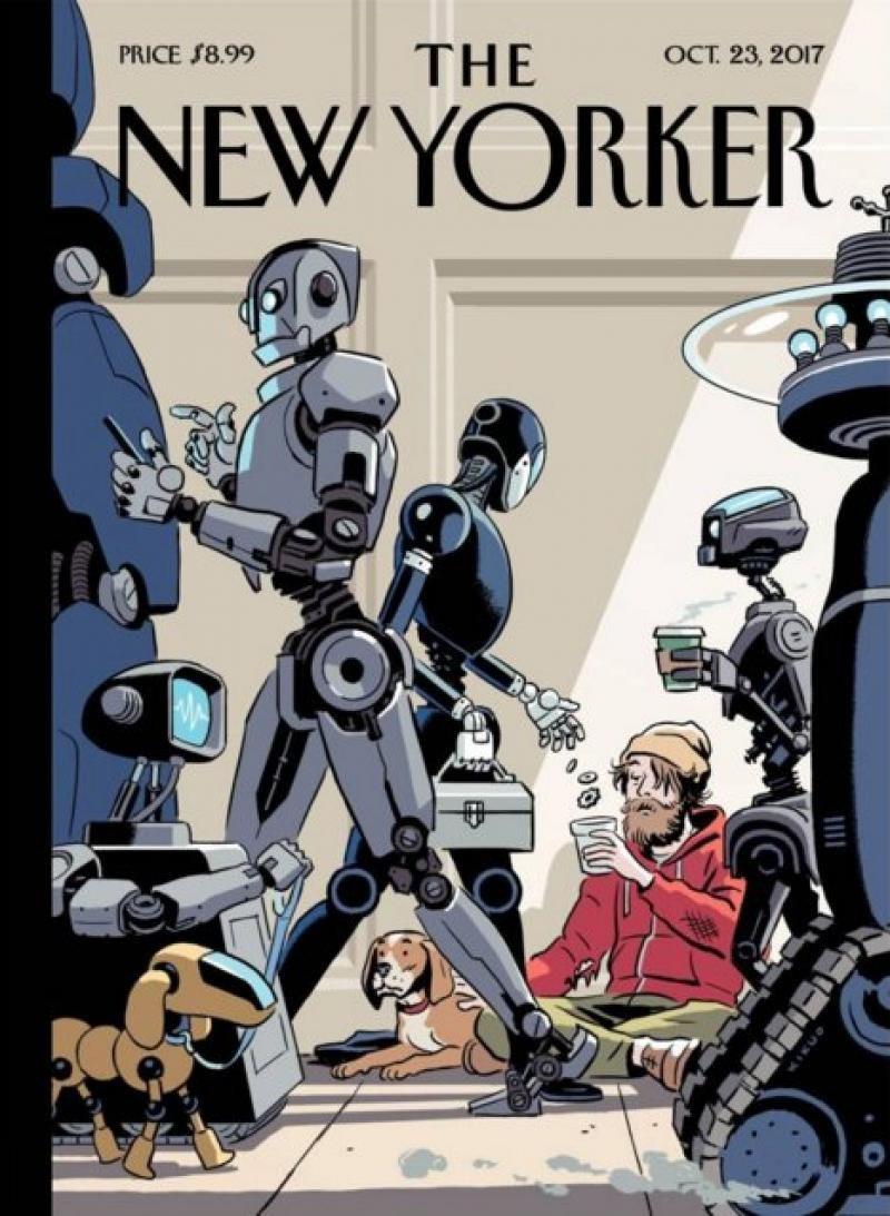 La revista The New Yorker imaginó un futuro inquietante en una de sus recientes portadas.