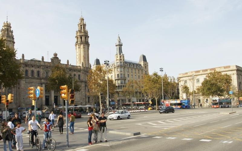 Pla del Palau, en Barcelona. Foto: Friedrich Böhringer.