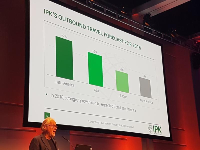 Rolf Freitag, ayer en la presentación del informe World Travel Monitor en la feria turística ITB de Berlín.
