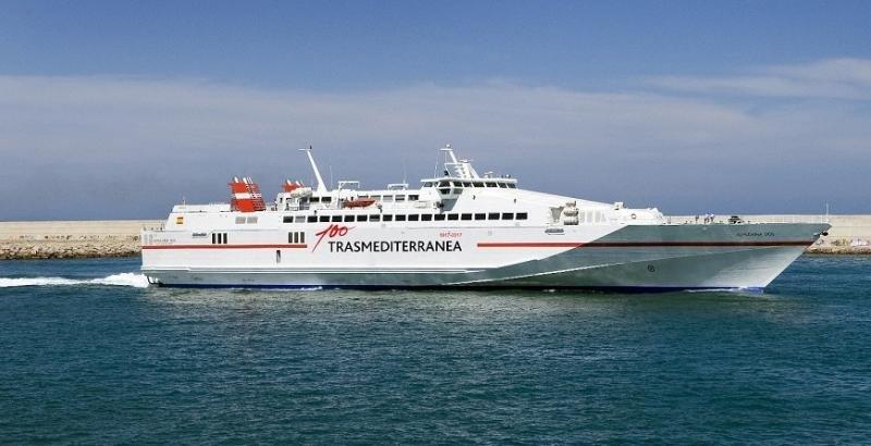 Trasmediterránea lanza una nueva ruta de alta velocidad Gandia-Ibiza-Palma