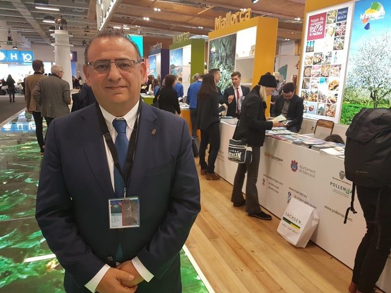 Alfonso Rodríguez, alcalde de Calvià, fotografiado la semana pasada en la feria ITB de Berlín.