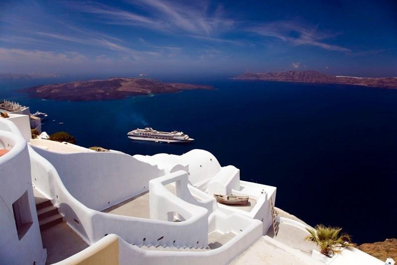 Santorini, en las islas Cíclidas. Imagen:  Oficina de Prensa de la Embajada de Grecia en España (derechos reservados).