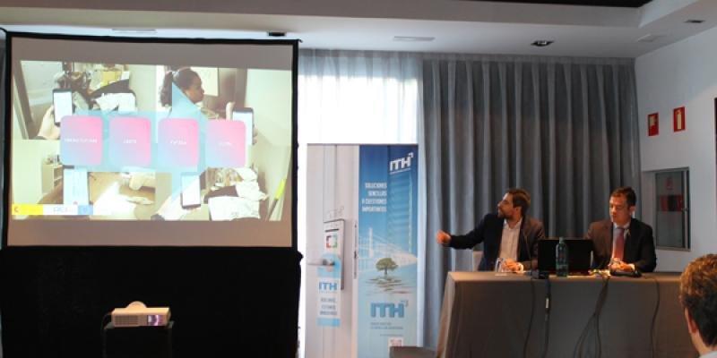 De izq. a dcha, Juan Carbajal, jefe de Proyectos de Nuevas Tecnologías y Operaciones de ITH, y Álvaro Carrillo, director general del Instituto, en la presentación de los resultados del proyecto.