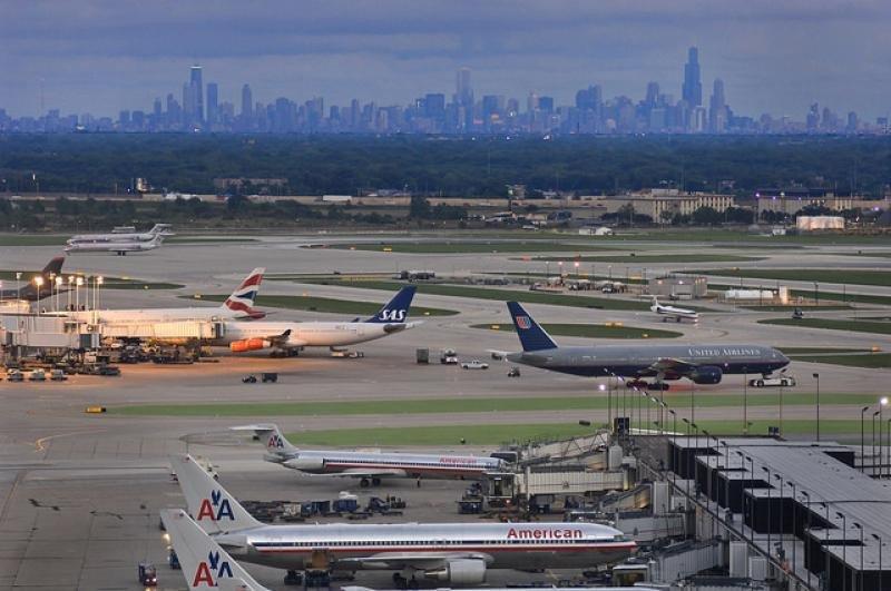 Aeropuerto internacional O'Hare de Chicago. Imagen: Chicago Department of Aviation.