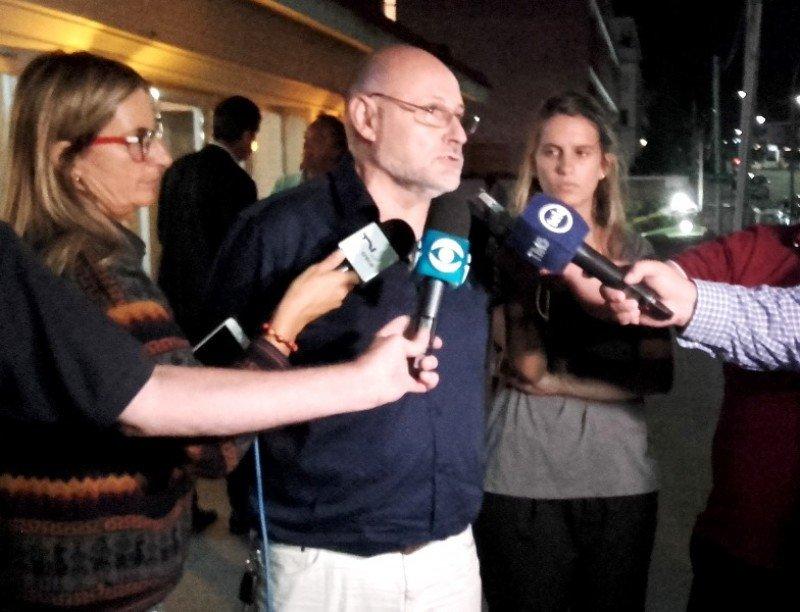 Juan Martínez, presidente de la Cámara Uruguaya de Turismo, en la reunión de este lunes 5. Foto: J.Lyonnet