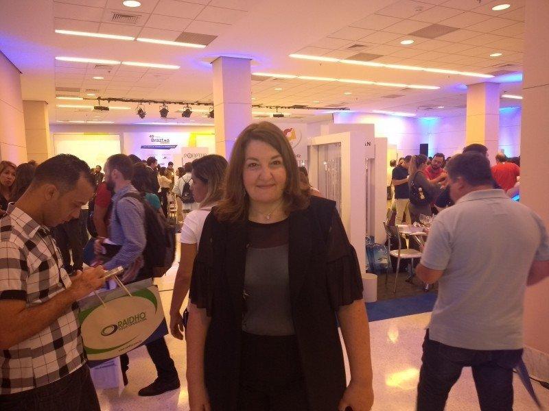 Magda Nassar en el Encuentro Comercial Braztoa en Sao Paulo.