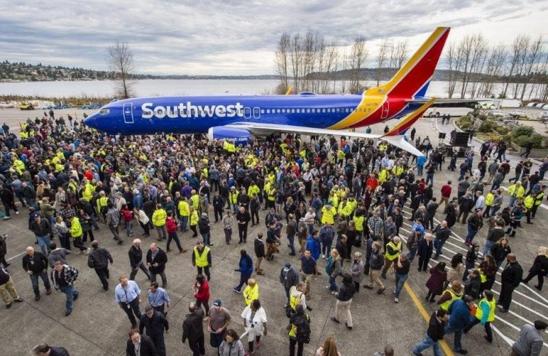 El avión 737 número 10.000 salió de fábrica.