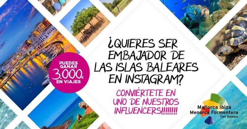 Baleares convoca un concurso en Instagram para buscar embajadores