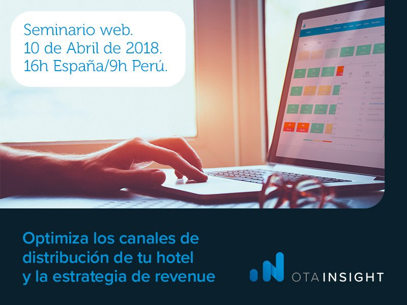 Webinar: 'Optimizar los canales de distribución de tu hotel'