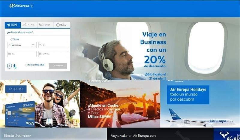 Air Europa lanza una nueva marca para reservar sus vuelos con hotel