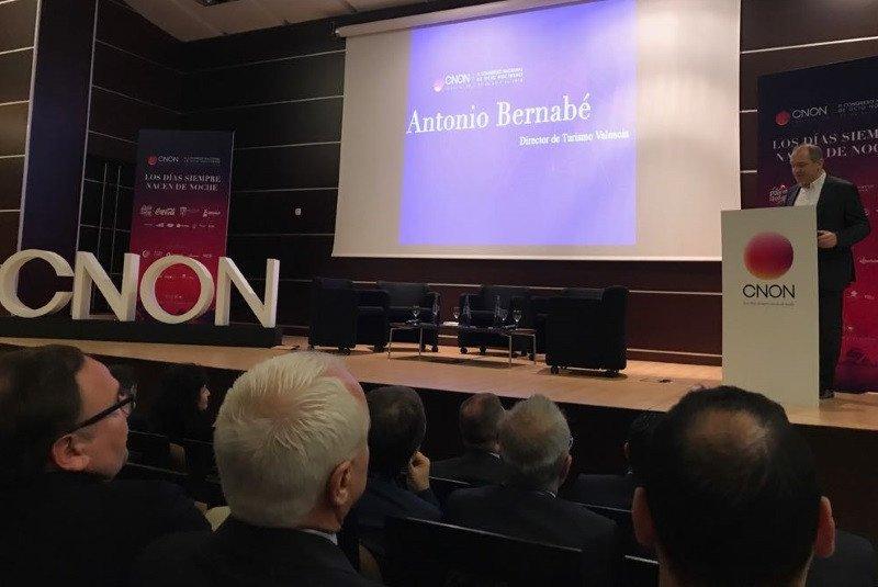 El director de Turismo Valencia, Antonio Bernabé, durante la apertura del congreso.